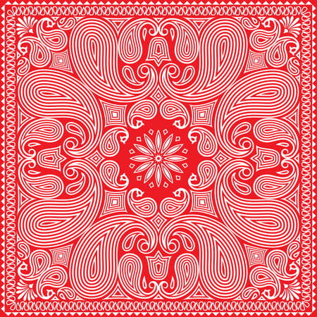 handkerchief: Red Bandana Design