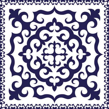 kopftuch: Blau-Leiter-Schal-Design Illustration