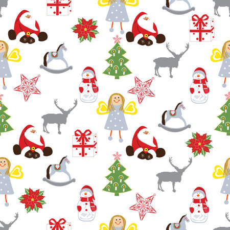 Christmas repeating pattern  Vector
