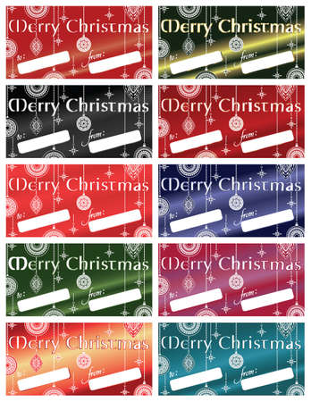 Merry Christmas Gift Tags Stock Vector - 10946071
