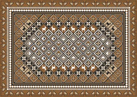 民族東敷物のパターン設計