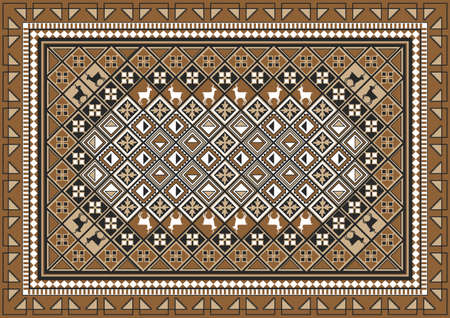 persian: Ethnic East Rug Pattern Design