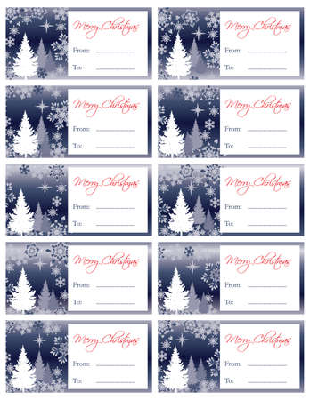 christmas gift tag: Matching Holiday Gift Tags Collection  Illustration