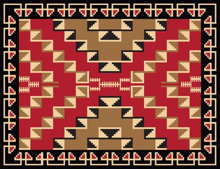 民族の敷物のパターン設計  イラスト・ベクター素材