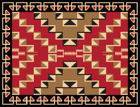 Ethnic Rug Pattern Design