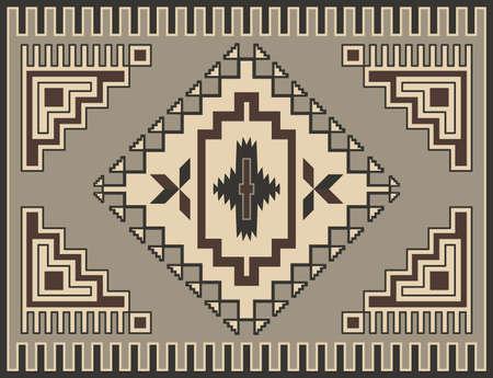 従来の幾何学的なレトロなカーペットのデザイン