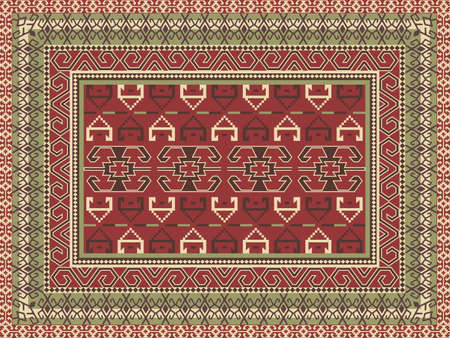 Traditional oriental carpet Vector