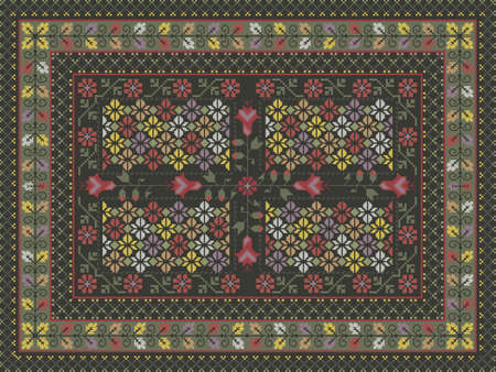 Ornate carpet design Vector