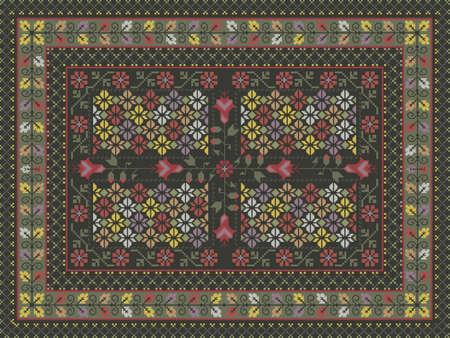 Ornate carpet design Vector