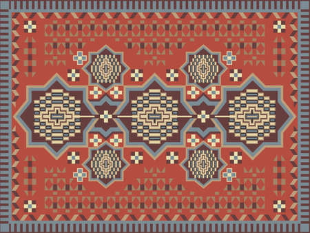 red rug: Carpet design
