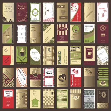 垂直方向のビジネス カード (40 セット) のコレクション