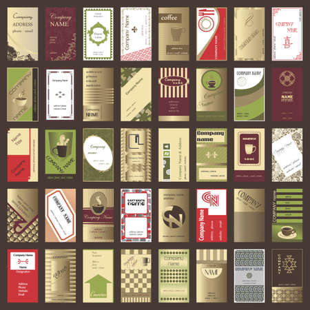 Collection of vertical business cards (40 set) Illustration
