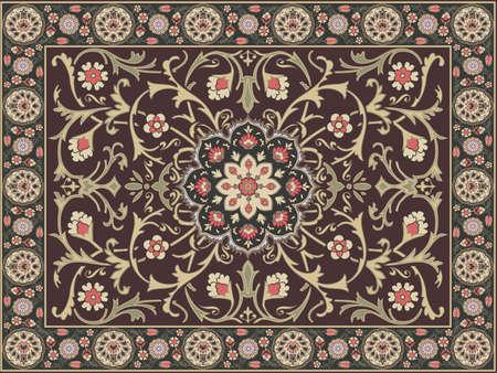 アラビア風のカーペットのデザイン  イラスト・ベクター素材