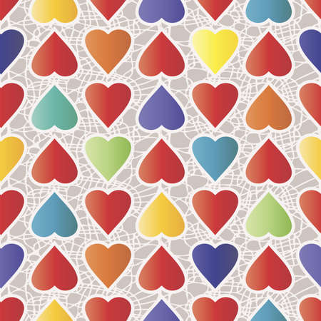 Colorful Heart Pattern Illustration