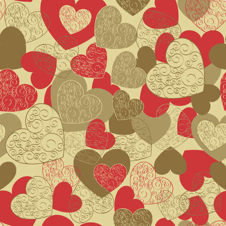 Endless Valentine background pattern Illustration