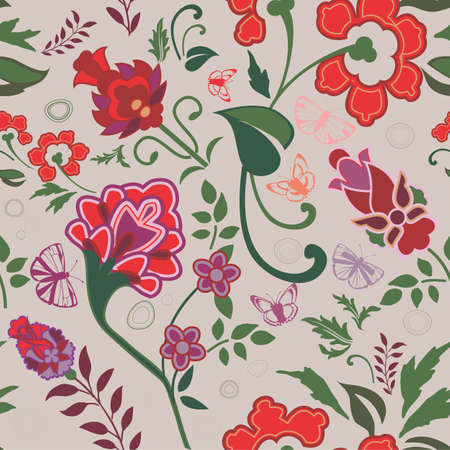 Bright floral pattern Vector