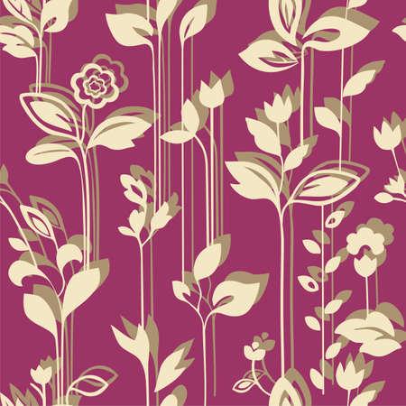 Seamless floral wallpaper Stock Vector - 12029382
