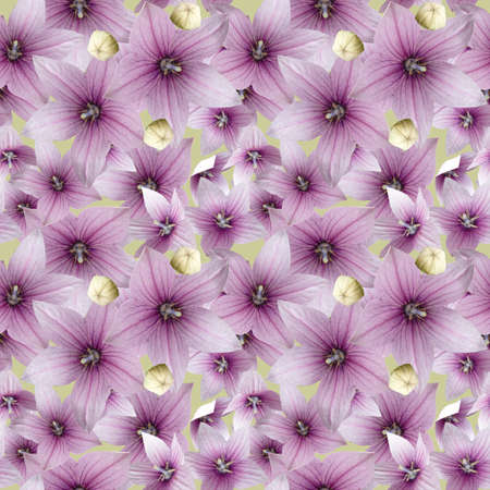 Raster Repeating Floral Pattern  Stock Photo