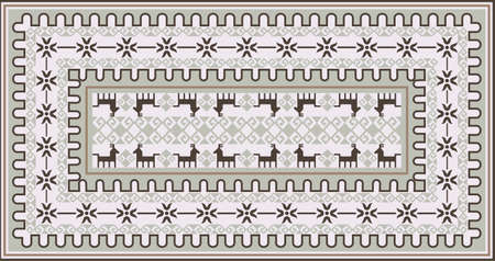 kilim: Stylish Ornamental Carpet Design Illustration