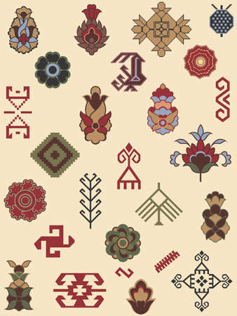kilim: Collection of carpet patterns Illustration
