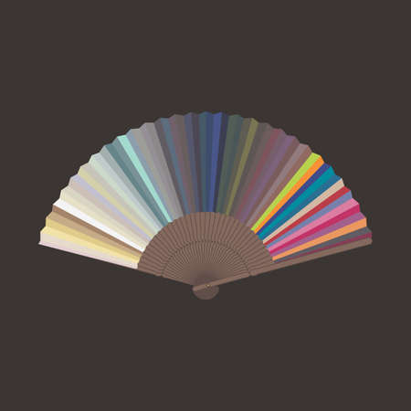 Color sampler art illustration Vector