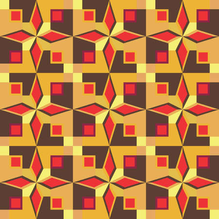 Brightly colored geometric seamless pattern