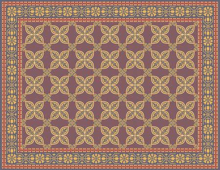 伝統的な外観と色とりどりの敷物