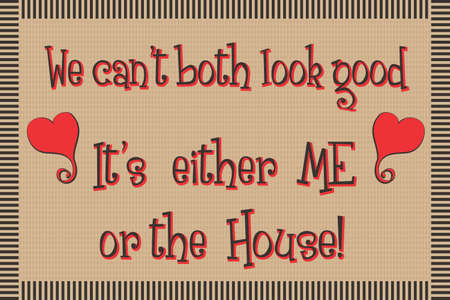 Door Mat Design with Funny Message   Illustration Stock Vector - 14607751