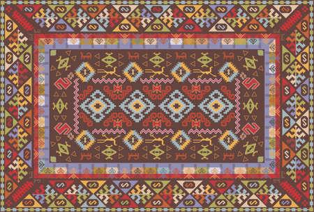 Oriental nomadische soort tapijtontwerp