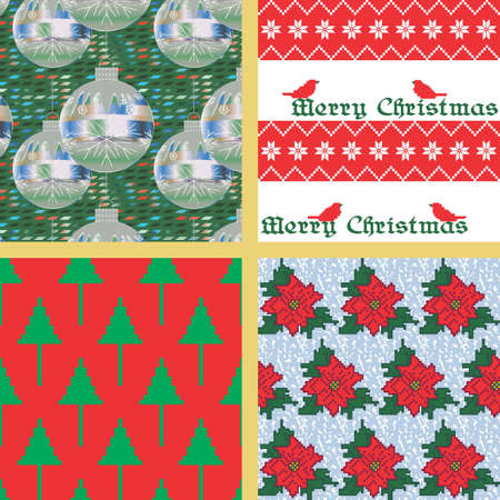Repeating Christmas Backgrounds Vector