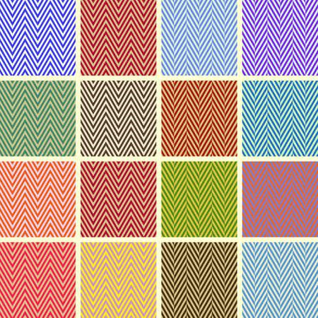 美しいシェブロン シームレス パターンのコレクション  イラスト・ベクター素材