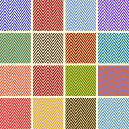 Collection of Beautiful Chevron Seamless Patterns Vector