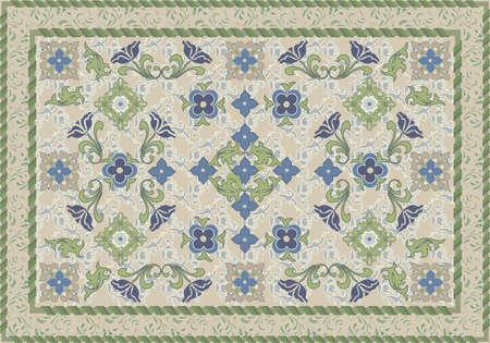 깔개: 빈티지 스타일 꽃과 잎이 카펫 디자인