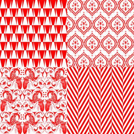 赤と白の繰り返しパターン