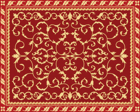 Past time carpet Vector