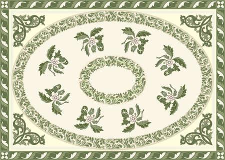 Fine Carpet Design Stock Vector - 15366378