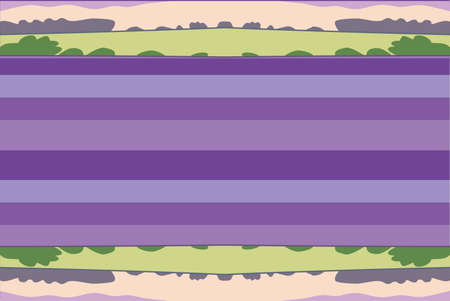 Bright color contemporary carpet design - Lavender Fields Illustration