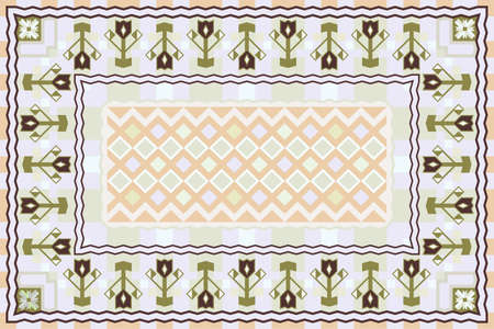 Spring Garden, Modern Carpet Design Vector