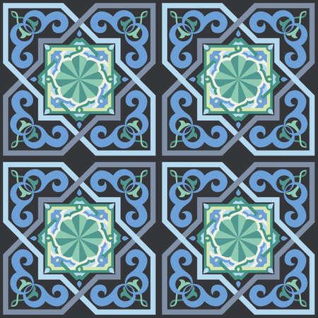 Seamless Moorish Style Pattern Vector