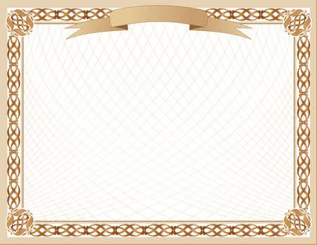 decoratif: Formulaire vierge pour l'école ou le chèque-cadeau