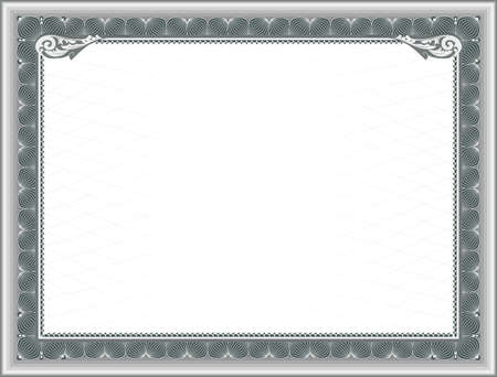awarded: Blank Template for Certificate of Education, or frame for Gift Certificate