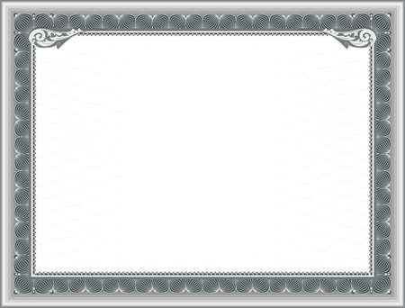 reconocimiento: Plantilla en blanco para el Certificado de Educaci�n, o el marco para un certificado de regalo Vectores