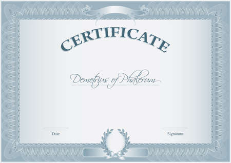 Blank Retro Certificate Template Illustration