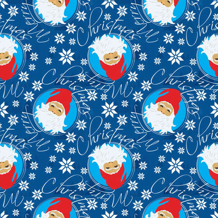 Bright Holiday Santa Seamless Pattern