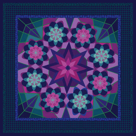 Classy shawl or bandana design Illustration