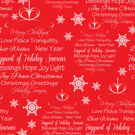 Seamless Christmas Greetings Background Illustration