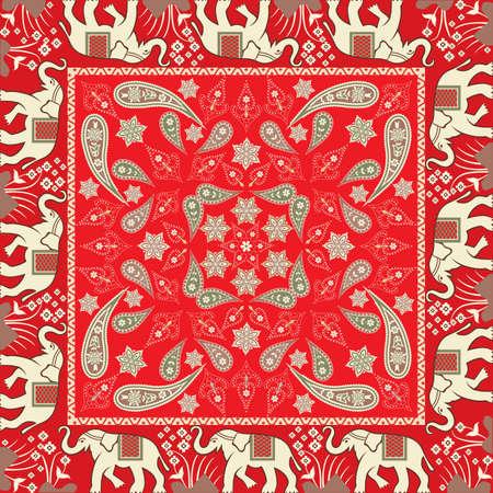 象をモチーフにしたバンダナ 写真素材 - 31356238