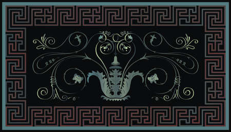 Decorative Geometrical Border Illustration