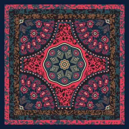 headscarf: Floral Scarf Design