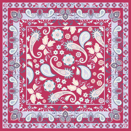 Floral scarf Vector